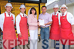 PRIZE WINNER: Kathleen Cahinn, Lee Dale, Caherslee who won the Maguire's Traditional Butchers competition for a EUR1,000 voucher for Lane's Furniture, Tralee collecting her prize from Tim Lane at Maguire's Traditional Butchers, Tralee on Thursday l-r: Patsy Lane, Liam Maguire (manager Maguire's Traditional Butchers), Kathleen Cahinn, Tim Lane (Lane's Furniture), Dan Casey and Enda Gee.