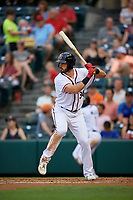Richmond Flying Squirrels Chris Shaw (34) at bat during an Eastern League game against the Binghamton Rumble Ponies on May 29, 2019 at The Diamond in Richmond, Virginia.  Binghamton defeated Richmond 9-5 in ten innings.  (Mike Janes/Four Seam Images)