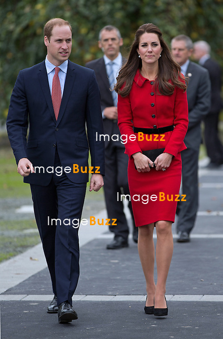 KATE,DUCHESS OF CAMBRIDGE AND PRINCE WILLIAM<br /> open the Visitors Centre at the Botanical Gardens, Christchurch, New Zealand_14/04/2014