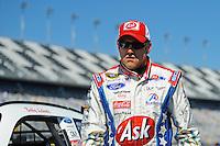 Feb 08, 2009; Daytona Beach, FL, USA; NASCAR Sprint Cup Series driver Bobby Labonte during qualifying for the Daytona 500 at Daytona International Speedway. Mandatory Credit: Mark J. Rebilas-