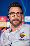 Coach Eusebio Di Francesco of Roma during press conference the day before Champions League match between Real Madrid and Roma at Santiago Bernabeu Stadium in Madrid, Spain. September 18, 2018. (ALTERPHOTOS/Borja B.Hojas)