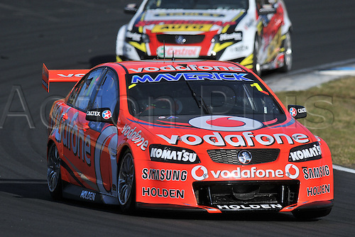26.08.2012 Eastern Creek,Australia. Race 2 winner Team Vodafones Jamie Whincup in his Commodore VE2  during the V8 Supercar Championship at the Sydney Motorsport Park,Australia