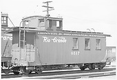 Long caboose #0517.<br /> D&amp;RGW  Alamosa, CO  Taken by Richardson, Robert W. - 1950