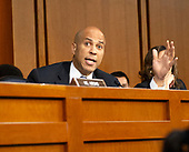 United States Senator Cory Booker (Democrat of New Jersey) asks a point of order prior to Judge Brett Kavanaugh giving testimony before the United States Senate Judiciary Committee on his nomination as Associate Justice of the US Supreme Court to replace the retiring Justice Anthony Kennedy on Capitol Hill in Washington, DC on Tuesday, September 4, 2018.<br /> Credit: Ron Sachs / CNP<br /> (RESTRICTION: NO New York or New Jersey Newspapers or newspapers within a 75 mile radius of New York City)