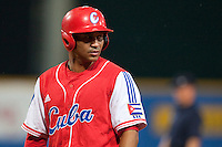 24 September 2009: Frederich Cepeda of Cuba is seen during the 2009 Baseball World Cup final round match won 5-3 by Team USA over Cuba, in Nettuno, Italy.