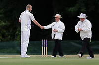 Paul Walter of Billericay greets the umpires during Ilford CC vs Billericay CC, Shepherd Neame Essex League Cricket at Valentines Park on 25th May 2019