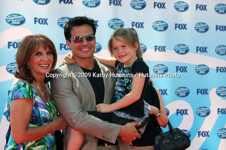 Antonio Sabato Jr, His Mother,  & Daughter arriving at the Amerian Idol Season 8 Finale at the Nokia Theater in  Los Angeles, CA on May 20, 2009 .©2009 Kathy Hutchins / Hutchins Photo..