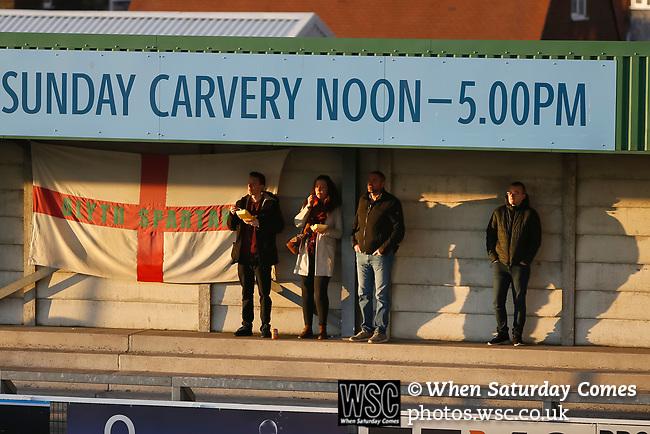 Blyth fans. Blyth Spartans v Brackley Town, 30112019. Croft Park, National League North. Photo by Paul Thompson.