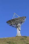 Parabolic or round radio telescope for radio astronomy pointing skywards, Front Range Mountains, Colorado, USA. .  John leads private photo tours in Boulder and throughout Colorado. Year-round Colorado photo tours.