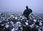 Marche dans le brouillard sur le plateau de Shira