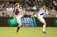CARSON, California - September 14, 2012: The LA Galaxy defeated the Colorado Rapids 2-0 during a Major League Soccer (MLS) game at Home Depot Center stadium.
