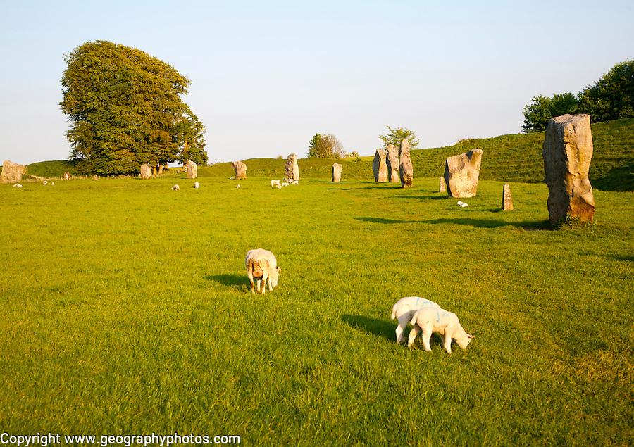 Neolithic stone circle and henge at Avebury, Wiltshire, England