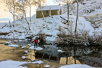 BNPS.co.uk (01202 558833)<br /> Pic: GeoffAllan/BNPS<br /> <br /> Stepping stones beneath Staoineag Bothy north of Rannoch Moor in the heart of the highlands.<br /> <br /> Wilderness walks - new book takes you down paths less travelled in the beautiful Scottish highlands.<br /> <br /> The stunning photos reveal Scotland's best remote walks, and also provide a rudimentary roof over your head at the end of the day. <br /> <br /> Geoff Allan has spent over 30 years travelling the length and breadth of the scenic country, passing through idyllic and untouched landscapes.<br /> <br /> The routes he has selected feature secret beaches, secluded glens, hidden caves and mountains.<br /> <br /> They also include bothies - remote mountain huts - which provide overnight shelter in the wilderness.<br /> <br /> Geoff has listed his top 28 trails complete with GPS maps and descriptions in his book Scottish Bothy Walks.
