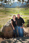 daughter and father portrait in Rocky Mountain National Park, Colorado USA