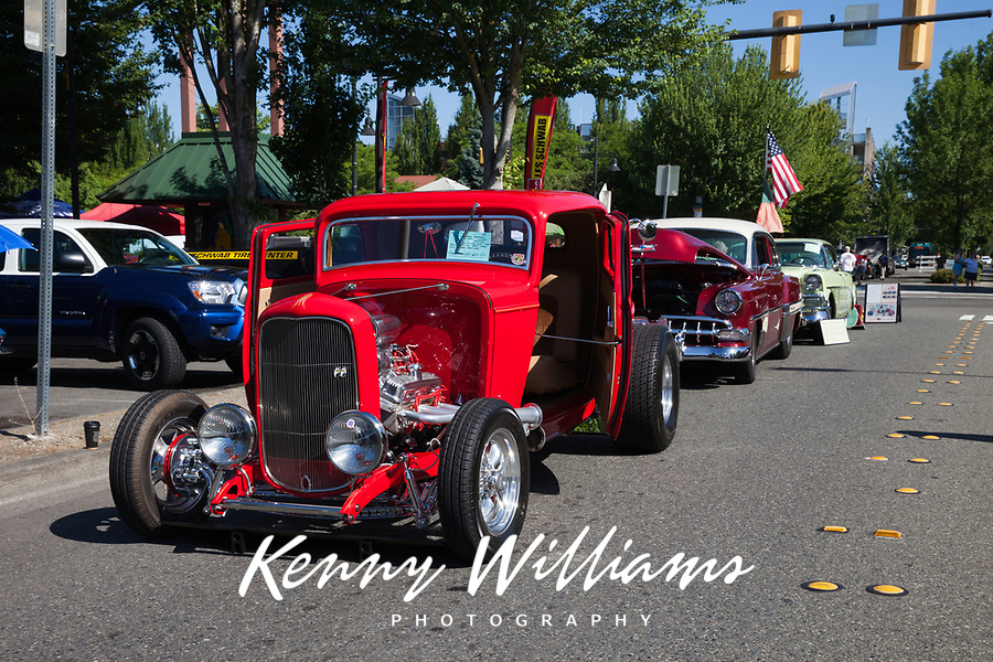 Red 1932 Ford Coupe, Return to Renton Auto Show 2017, Washington, USA..