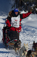 Paul Gebhardt on Long Lake at the Re-Start of the 2012 Iditarod Sled Dog Race
