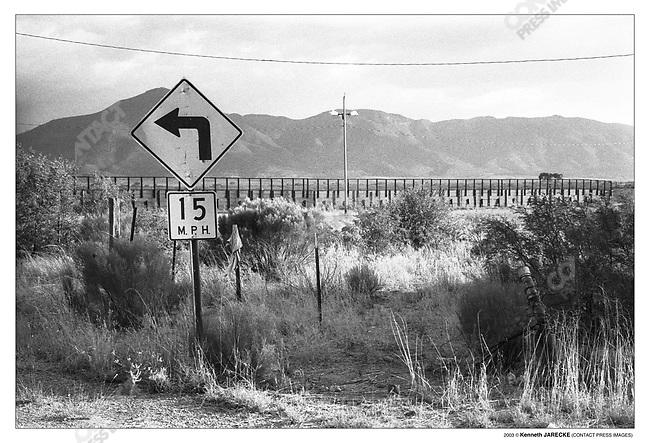 Border fence US and Mexico border, Naco, Arizona, July 7, 2003.