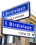 LELYSTAD - Straatnaamborden bij Golfbaan van Golfclub Flevoland in Lelystad. ANP COPYRIGHT KOEN SUYK