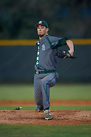 Saint Leo Lions starting pitcher Andrew Cohen (37) delivers a pitch during a game against the Northwestern Wildcats on March 4, 2016 at North Charlotte Regional Park in Port Charlotte, Florida.  Saint Leo defeated Northwestern 5-3.  (Mike Janes/Four Seam Images)