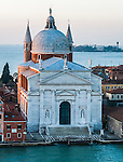 The Church of the Redentore on Giudecca from Giudecca Canal Venice Italy