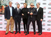 12 November 2017 - Hollywood, California - Sony Pictures Classics Co-President Tom Bernard, actor Jamie Bell, actress Annette Bening, musician Elvis Costello and Sony Pictures Classics Co-President Michael Barker. &quot;Film Stars Don't Die In Liverpool&quot; AFI FEST 2017 Screening held at TCL Chinese Theatre. <br /> CAP/ADM/FS<br /> &copy;FS/ADM/Capital Pictures
