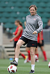 17 May 2011: Assistant coach Hege Riise (NOR). The United States Women's National Team held a training session at WakeMed Stadium in Cary, North Carolina as part of their preparations for the 2011 Women's World Cup.