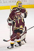 Derek MacIntyre, Mark Bomersback - The Ferris State Bulldogs defeated the University of Denver Pioneers 3-2 in the Denver Cup consolation game on Saturday, December 31, 2005, at Magness Arena in Denver, Colorado.