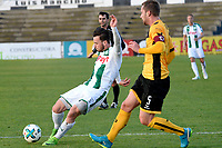 LA LINEA - Voetbal, FC Groningen - Dynamo Dresden, Trainingskamp FC Groningen, seizoen 2017-2018, 13-01-2018,  FC Groningen speler Michael Breij met Marco Hartmann