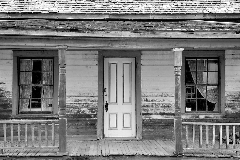 Door entry into historic old house. Nevada City, Montana