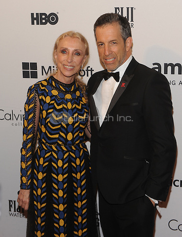 New York,NY- June 10: Franca Sozzani, Kenneth Cole attends the amfAR Inspiration Gala at The Plaza Hotel In New York City on June 10, 2014 . Credit: John Palmer/MediaPunch