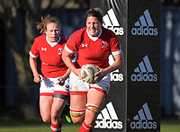 Canada captain Kelly Russell breaks from the base of the scrum during the 2017 International Women's Rugby Series rugby match between England Roses and Canada at Rugby Park in Christchurch, New Zealand on Tuesday, 13 June 2017. Photo: Dave Lintott / lintottphoto.co.nz