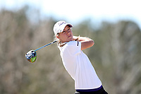 WALLACE, NC - MARCH 09: Samantha Vodry of High Point University tees off on the 13th hole of the River Course at River Landing Country Club on March 09, 2020 in Wallace, North Carolina.