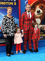 "6 January 2018 - Los Angeles, California - Perez Hilton, mother Teresita Lavandeira,daughter Mia Alma Lavandeira and son Mario Armando Lavandeira III. ""Paddington 2"" L.A. Premiere held at the Regency Village Theatre. Photo Credit: AdMedia"