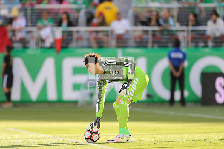 Santa Clara, CA - Saturday June 18, 2016: Guillermo Ochoa during a Copa America Centenario quarterfinal match between Mexico (MEX) and Chile (CHI) at Levi's Stadium.