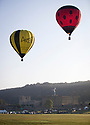 27/08/18<br /> <br /> Hot air balloons launch at dawn on the last day of summer, to mark the start of this weekend's Chatsworth Country Fair in the grounds of the Duke of Devonshire's Derbyshire estate.<br />  <br /> All Rights Reserved, F Stop Press Ltd. (0)1335 344240 +44 (0)7765 242650  www.fstoppress.com rod@fstoppress.com