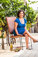 Amelia Ceja pictures: executive portrait photography of Amelia Ceja of Ceja Vineyards in Napa, by San Francisco corporate photographer Eric Millette