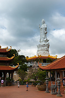 Beautiful Lady Buddha Statue in Ho Quoc Temple, Phuquoc, Vietnam