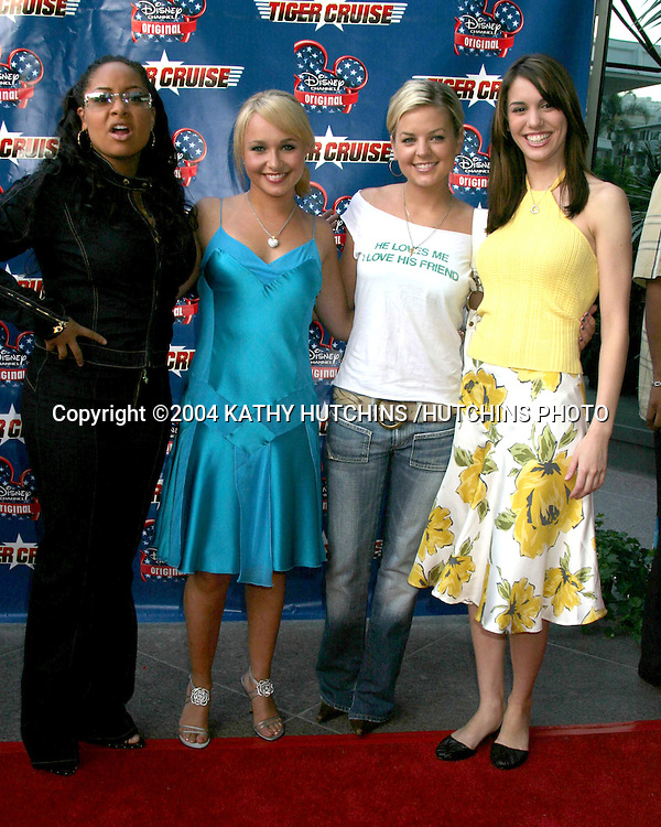 "©2004 KATHY HUTCHINS /HUTCHINS PHOTO.PREMIERE OF ""TIGER CRUISE"".HOLLYWOOD, CA.JULY 27, 2004..RAVEN SYMONE.HAYDEN PANETIERRE.KIRSTEN STORMS.CHRISTY CARLSON ROMANO"