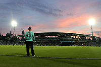General view as the sun sets during Surrey vs Essex Eagles, NatWest T20 Blast Cricket at the Kia Oval on 19th July 2017