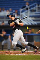 West Virginia Black Bears catcher Arden Pabst (52) at bat during a game against the Batavia Muckdogs on August 20, 2016 at Dwyer Stadium in Batavia, New York.  Batavia defeated West Virginia 7-2.  (Mike Janes/Four Seam Images)