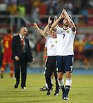 Charlie Mulgrew celebrates to the fans