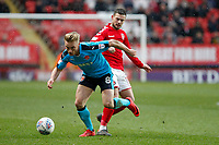 Kyle Dempsey of Fleetwood Town on the ball during the Sky Bet League 1 match between Charlton Athletic and Fleetwood Town at The Valley, London, England on 17 March 2018. Photo by Carlton Myrie.