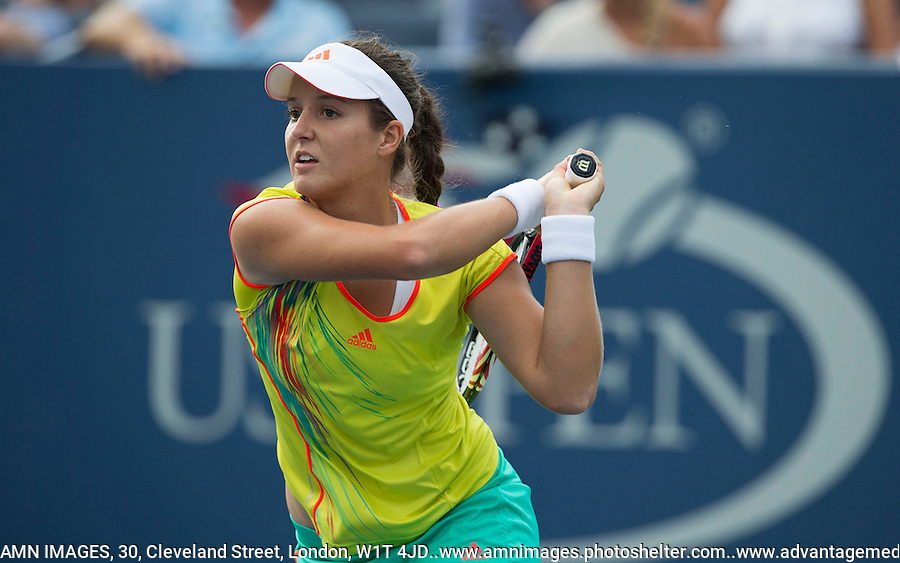 Laura Robson..Tennis - US Open - Grand Slam -  New York 2012 -  Flushing Meadows - New York - USA - Sunday 2nd September  2012. .© AMN Images, 30, Cleveland Street, London, W1T 4JD.Tel - +44 20 7907 6387.mfrey@advantagemedianet.com.www.amnimages.photoshelter.com.www.advantagemedianet.com.www.tennishead.net