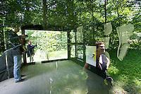"""dOCUMENTA (13) in Kassel, Germany..Karlsaue..Rosemarie Trockel, """"Tea Party Pavillion"""", 2012."""