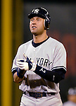 16 June 2006: Derek Jeter, shortstop for the New York Yankees, in action against the Washington Nationals at RFK Stadium, in Washington, DC. The Yankees defeated the Nationals 7-5 in the first meeting of the two franchises...Mandatory Photo Credit: Ed Wolfstein Photo...