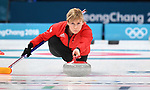 Kelly Schafer (GBR). Womens Curling training. Pyeongchang2018 winter Olympics Gangneung curling centre. Gangneung. Republic of Korea. 12/02/2018. ~ MANDATORY CREDIT Garry Bowden/SIPPA - NO UNAUTHORISED USE - +44 7837 394578
