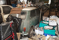 Barn find - classic Mini car that has spent almost 50 years in a garage set to sell for over £10k.