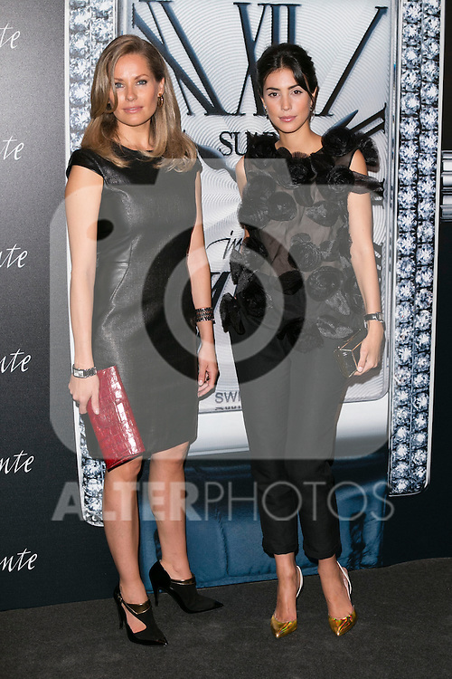 """Belen Domeq and Alessandra de Osma at the presentation of the first woman watch of Suarez Brand at """"La casa encendida"""" in Madrid, Spain. October 15, 2014. (ALTERPHOTOS/Carlos Dafonte)"""