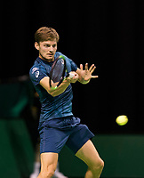 ABNAMRO World Tennis Tournament, 14 Februari, 2018, Rotterdam, The Netherlands, Ahoy, Tennis, David Goffin (BEL)<br /> <br /> Photo: www.tennisimages.com