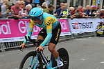 Alexey Lutsenko (KAZ) in action during the Men Elite Individual Time Trial of the UCI World Championships 2019 running 54km from Northallerton to Harrogate, England. 25th September 2019.<br /> Picture: Seamus Yore | Cyclefile<br /> <br /> All photos usage must carry mandatory copyright credit (© Cyclefile | Seamus Yore)